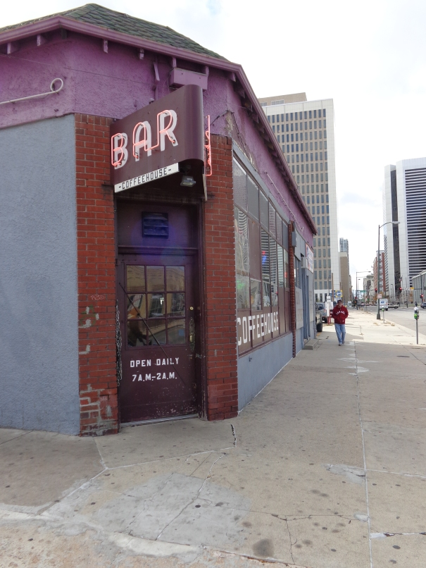 Front of bar on 21st & Broadway