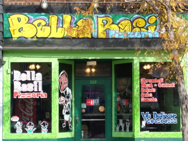 Bellas basil Pizza Street Store Front Street Art. By SimpleButSolid WhiteLiger.net