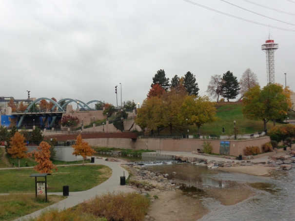 Confluence Park a the Fork of South Platte and cherry creek