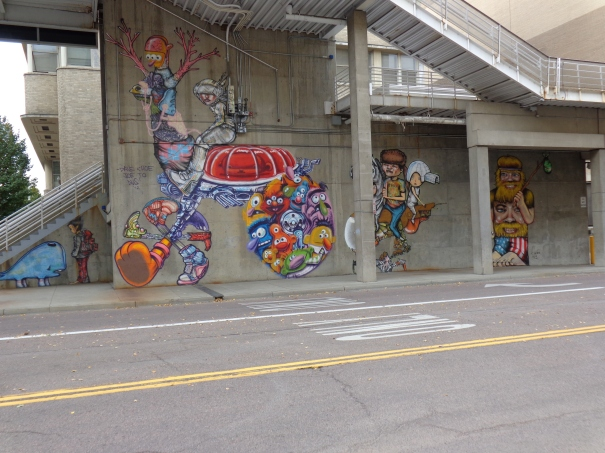 Street Art Denver by Choe Performing arts complex across from convention center on 13th denver downtown 6